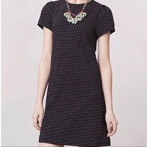 Maeve Anthropologie Black & White Polka Dot Dress